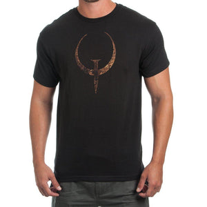 Quake Emblem Black T-Shirt - TeamByExample