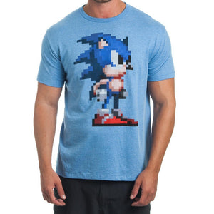 Sega Pixelated Blue T-Shirt - TeamByExample