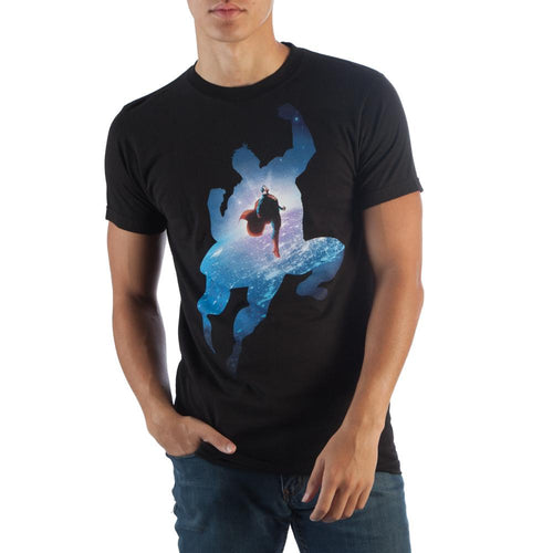 Superman Space Black T-Shirt - TeamByExample