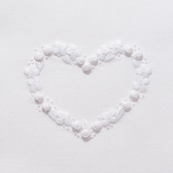 Flower Heart White
