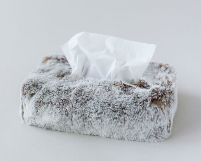 Faux Fur Tissue Box Cover