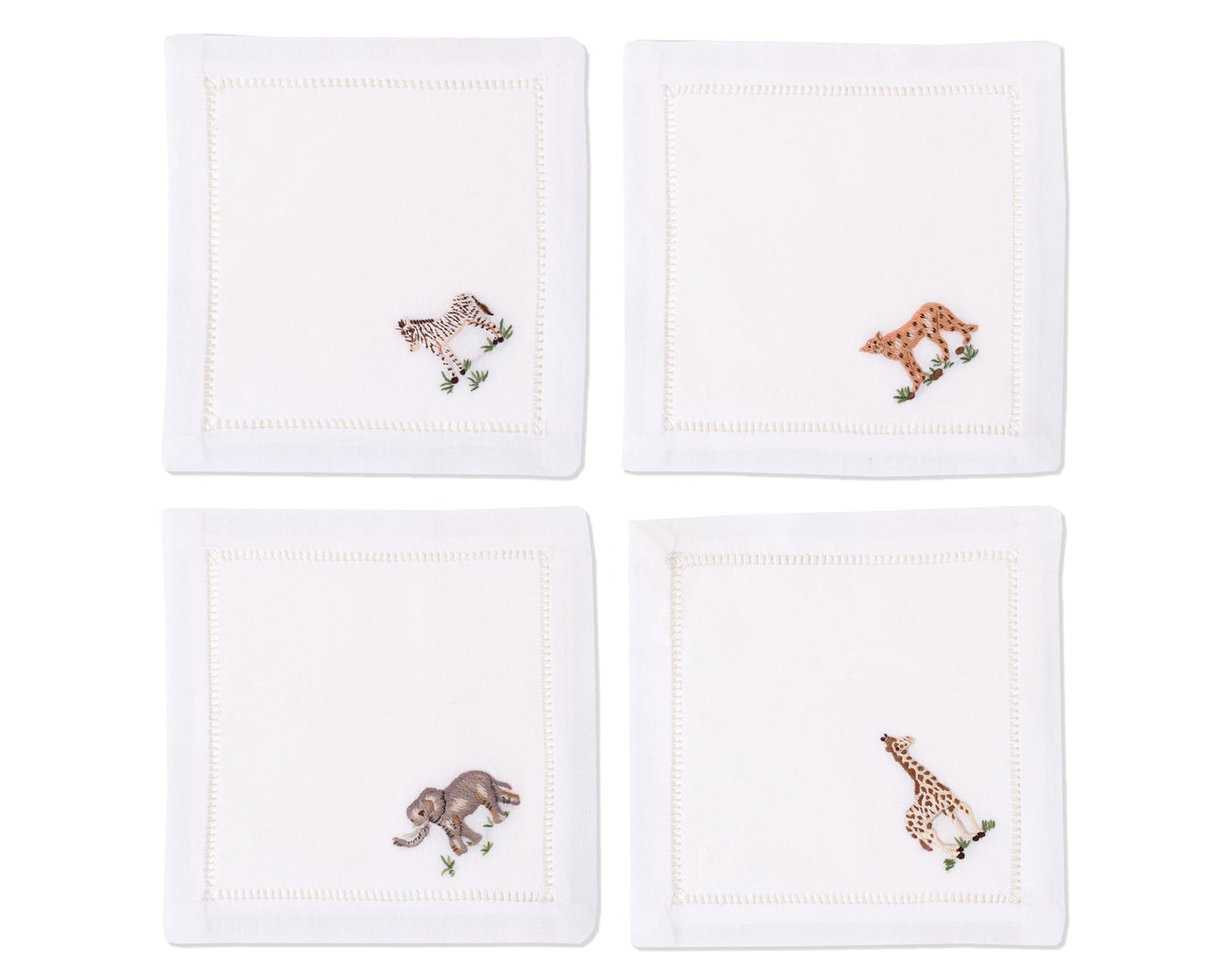 African Animals | Cocktail Napkins, Set of 4
