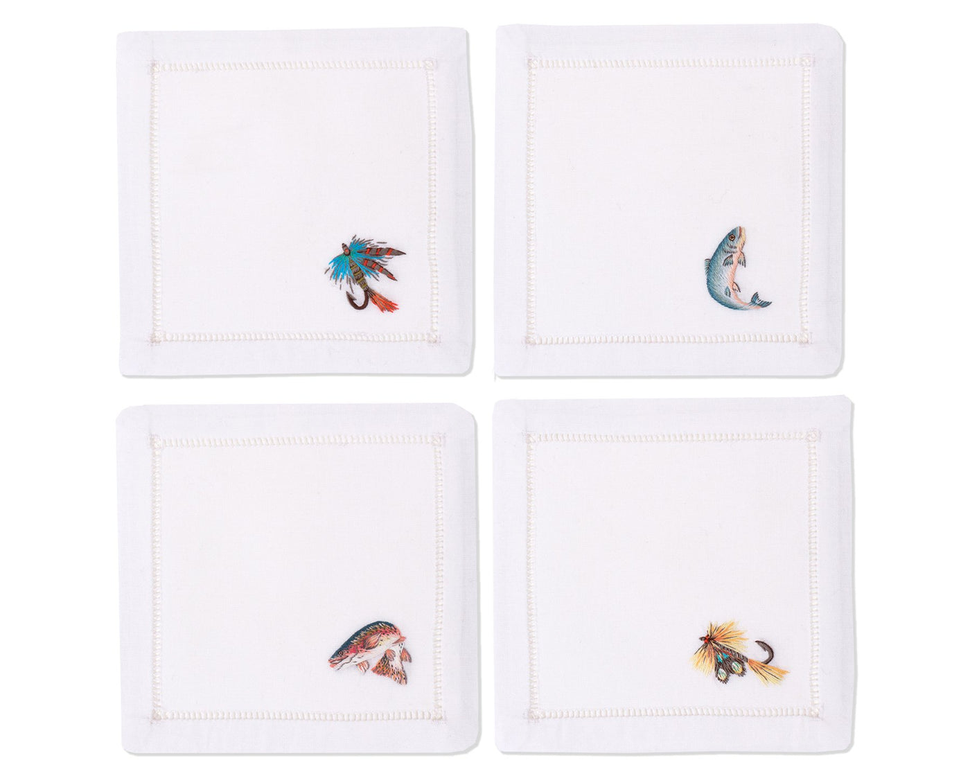 Fishing Mixed | Cocktail Napkins, Set of 4