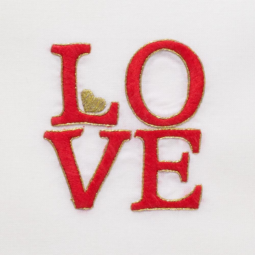 LOVE Square | Cocktail Napkins, Set of 4