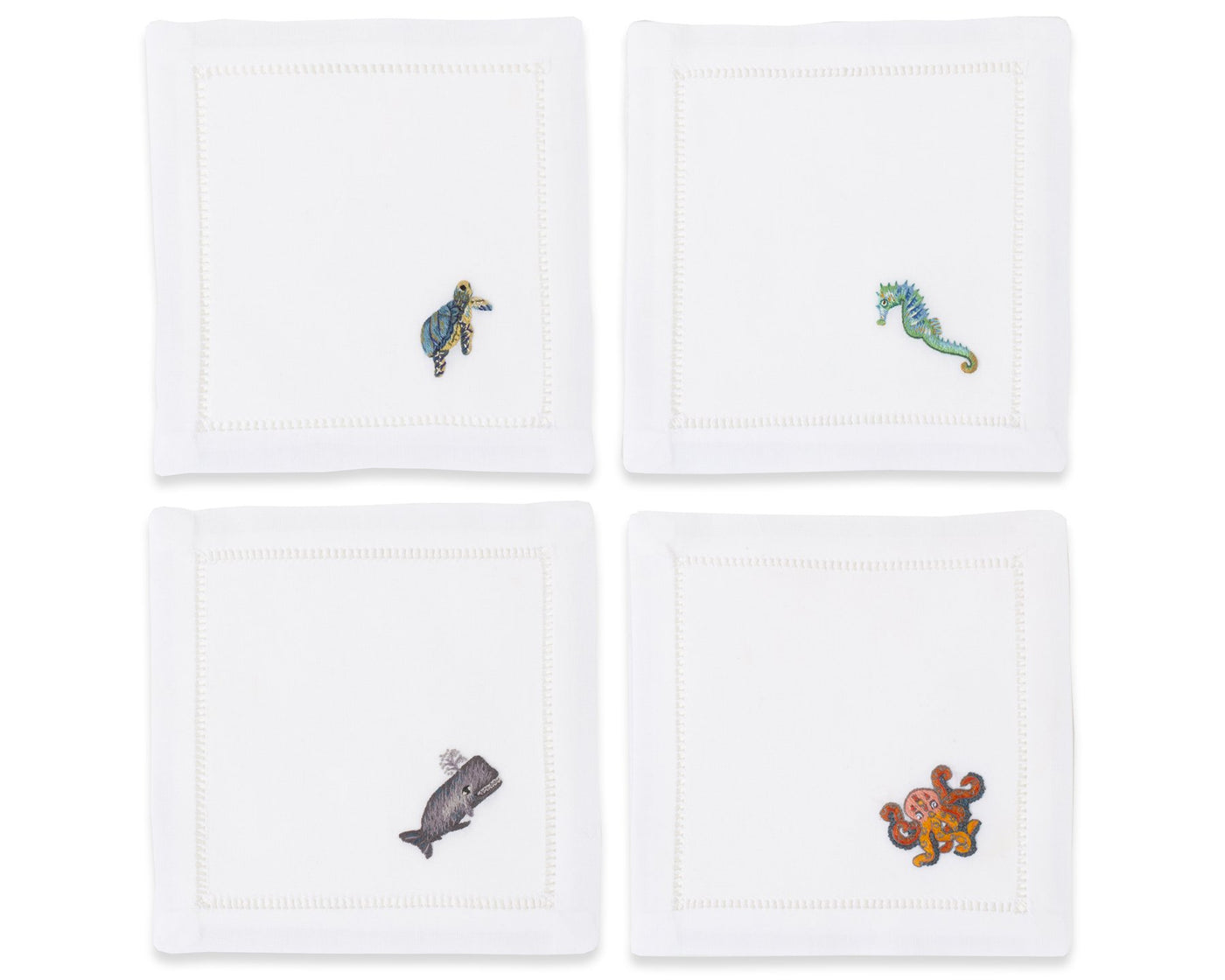 Sea Life | Cocktail Napkins, Set of 4