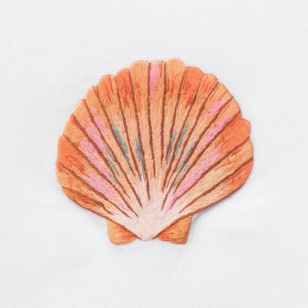 Shell Scallop Blush | Tissue Box Cover