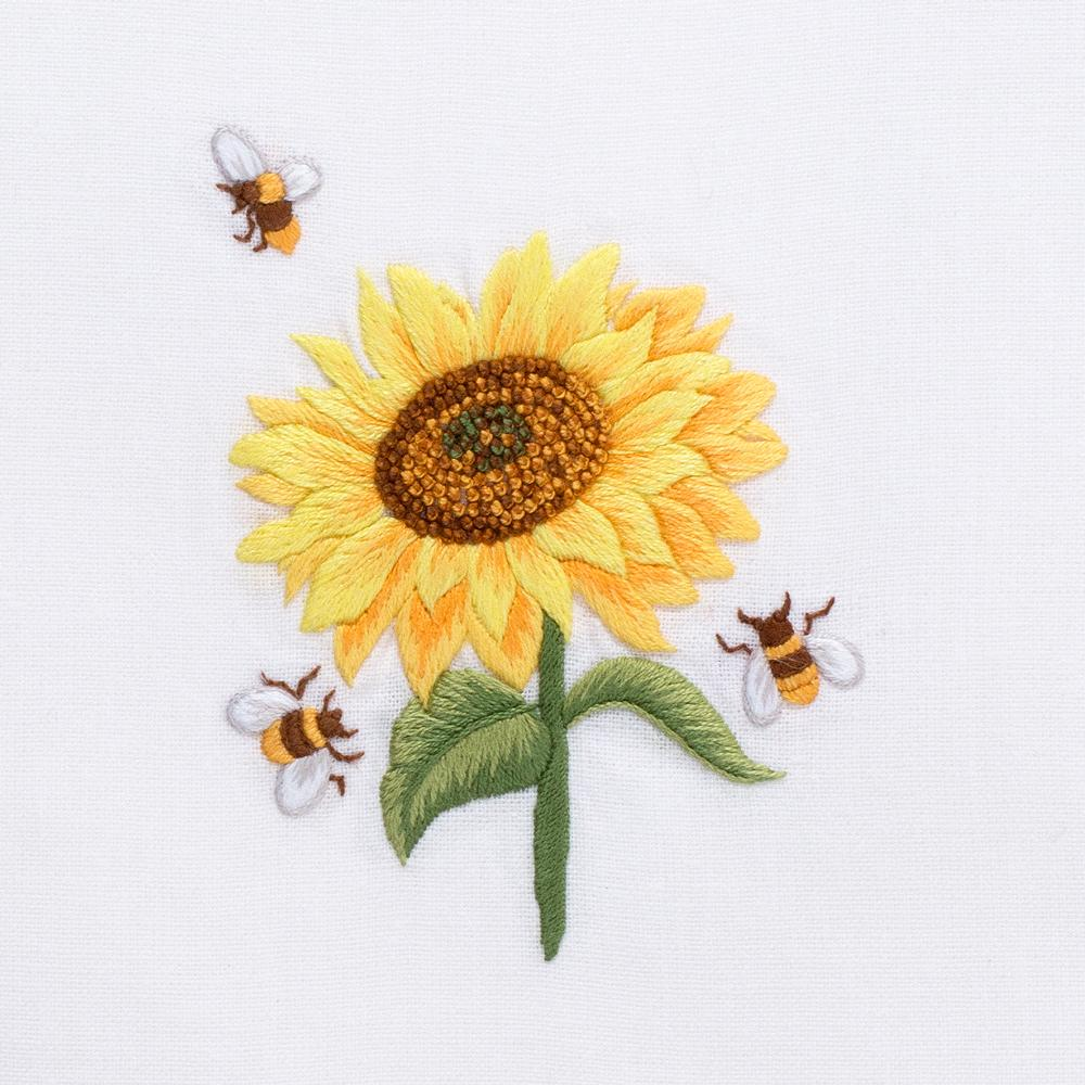 Sunflower & Bees | Guest Towel