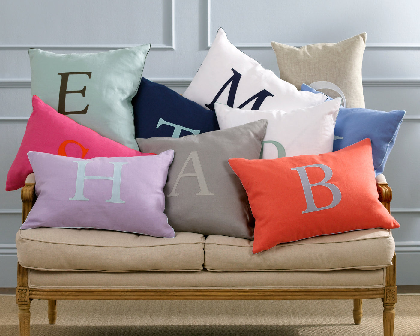 Initial | Decorative Pillow