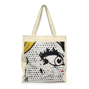 (Eyes Looking) Shoulder Tote Bag - Roomy