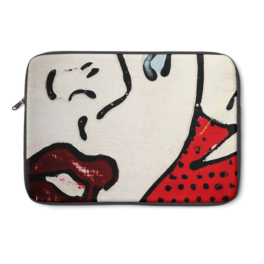 (Tears & Lipstick Red) Laptop Sleeve