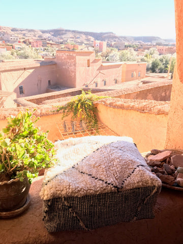 Berber pouf floor pillow morocco travel | Olá Lindeza