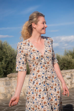 Flowered summer dress | Olá Lindeza