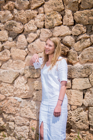 Linen summer kaftan beach dress | Olá Lindeza