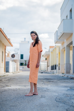 Linen summer dress | Olá Lindeza