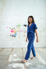 MAXINE JUMPSUIT - CLASSIC BLUE LYOCELL
