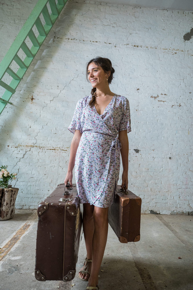 Viscose wrap dress | Olá Lindeza