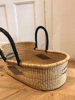 Glory Woven Baby Moses Basket (custom mattress included)