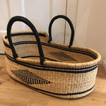 Jewel Woven Baby Moses Basket (custom mattress included)