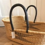 Aviator Woven Baby Moses Basket (custom mattress included)