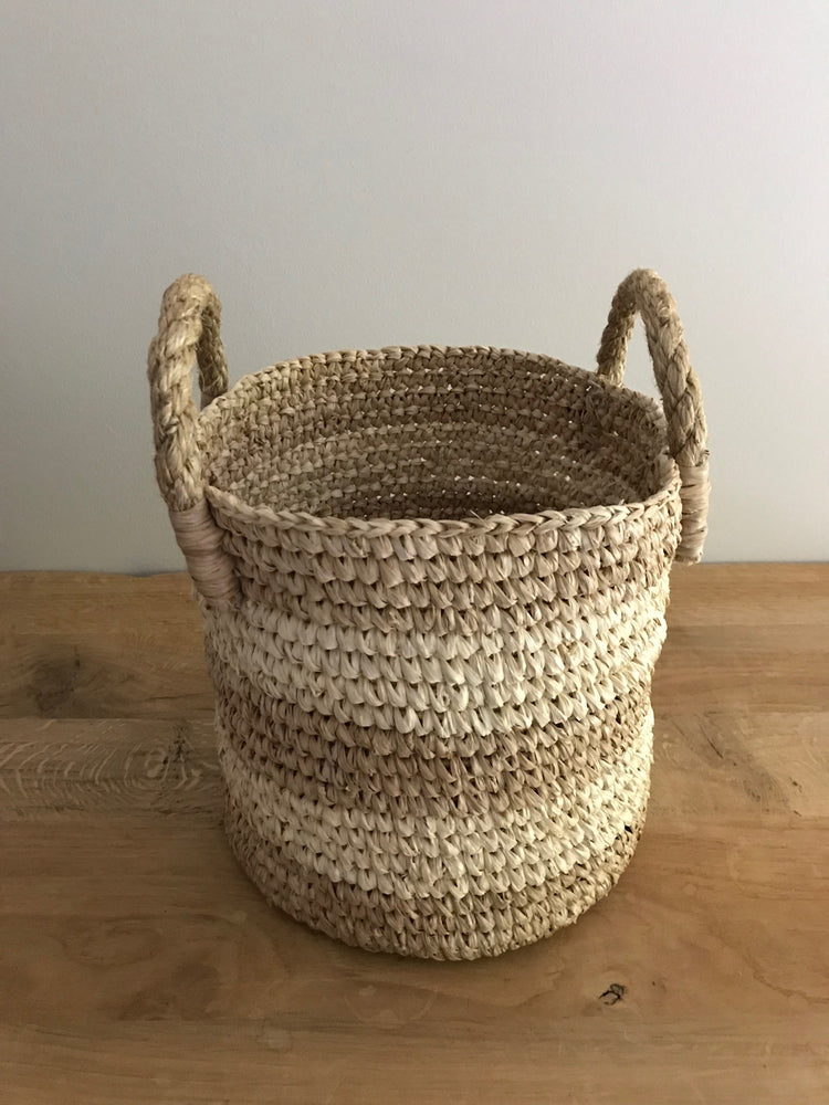 Arthur seagrass basket (natural & white)