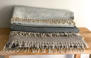 Neutral tones viscose wool rugs | Olá Lindeza