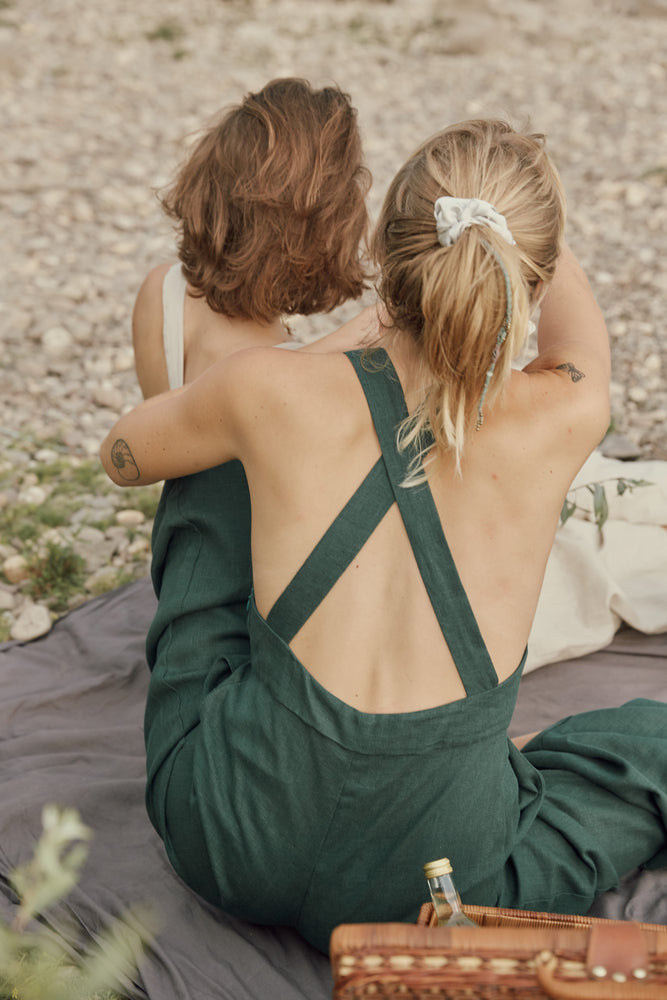 LOUSA JUMPSUIT bottle green