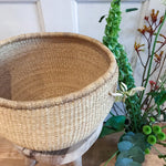 Zuhrah natural woven storage or plant basket