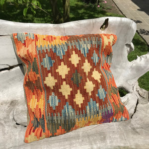 Afghan Kilim 'Kelim' Cushion