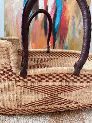 Botwe Woven Baby Moses Basket (custom mattress included)