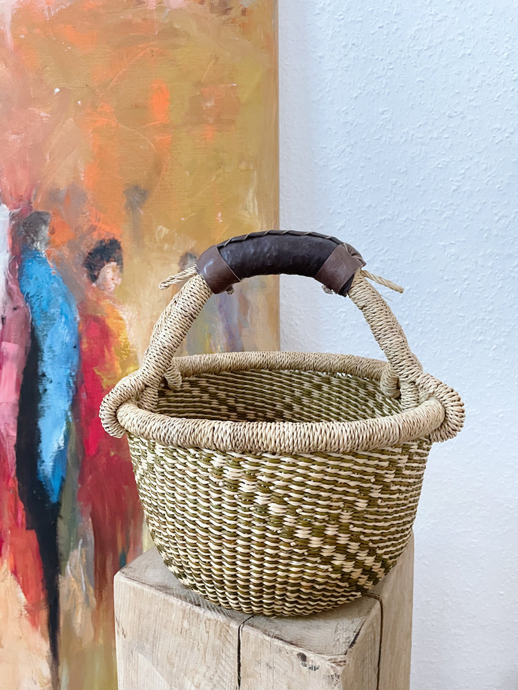 Yakootah small woven market or storage basket