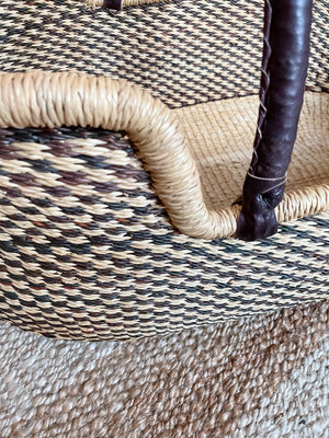 Harmonious Woven Baby Moses Basket (custom mattress included)