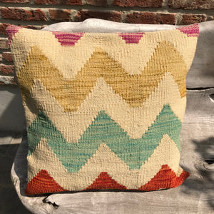 Ocean Wave Kilim Cushion