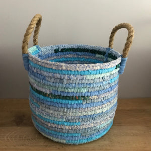 Lucie up-cycled fabric basket (available in two different sizes)
