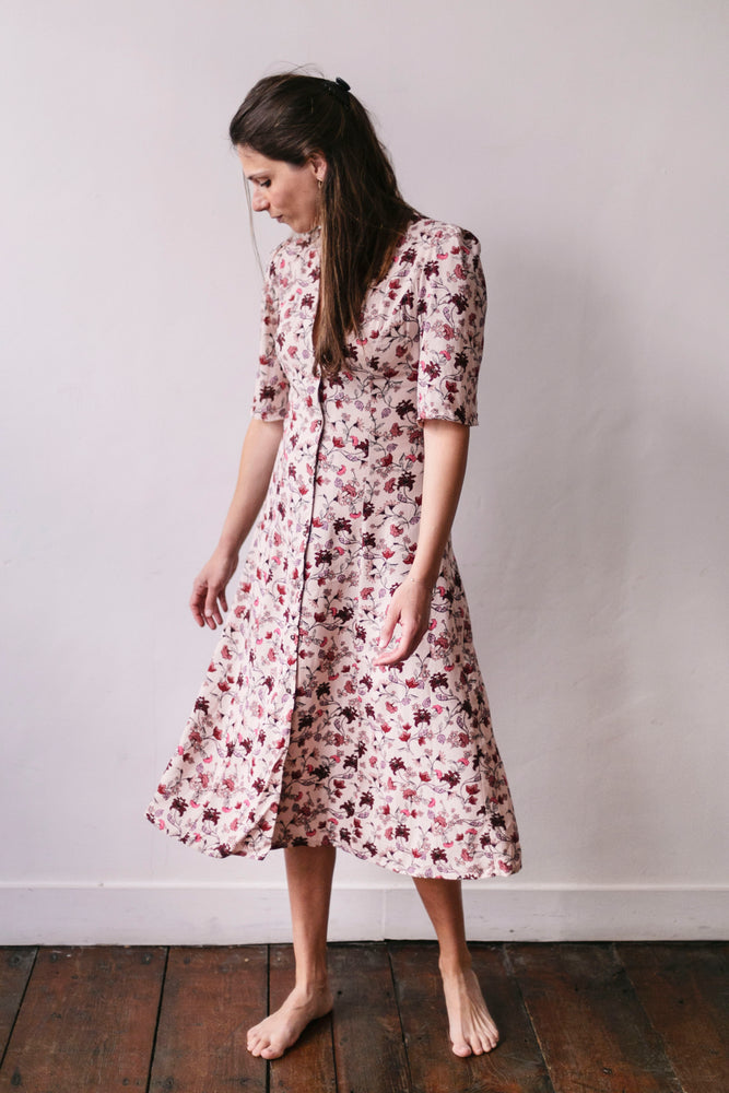 Pink flowered Madrid dress