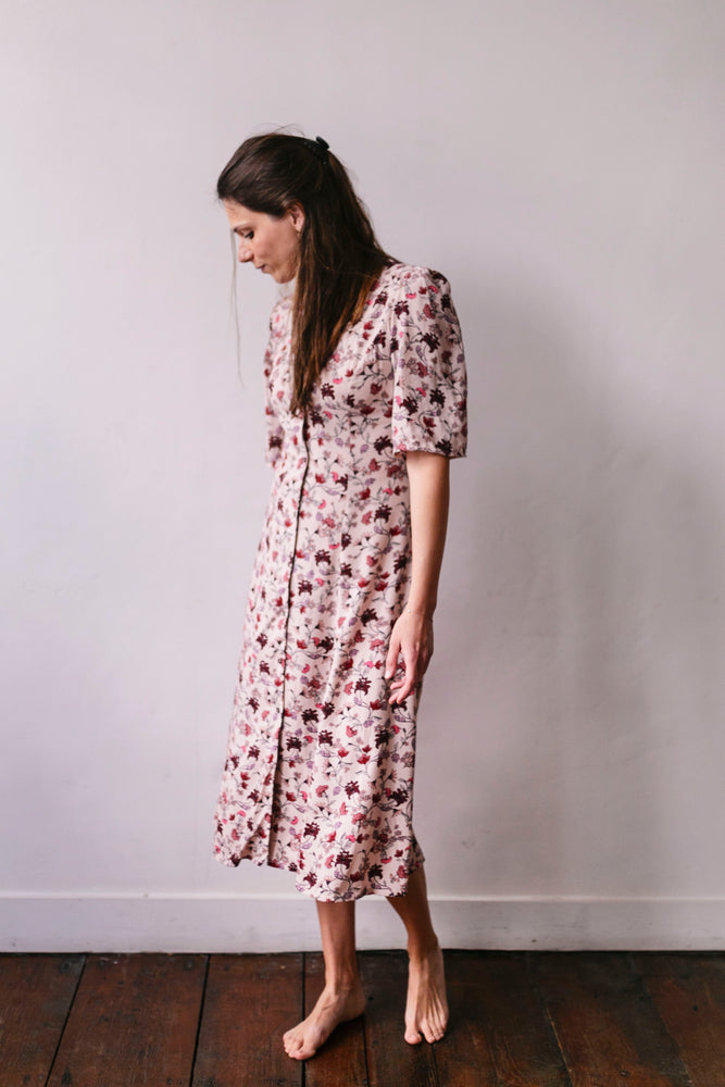 Flowered viscose dress Olá Lindeza