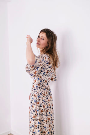 Flowered maxi dress | Olá Lindeza