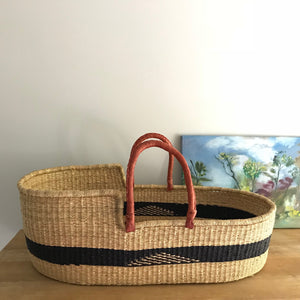 Aztec Woven Baby Moses Basket