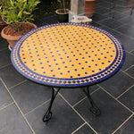 Ocher mosaic tile table