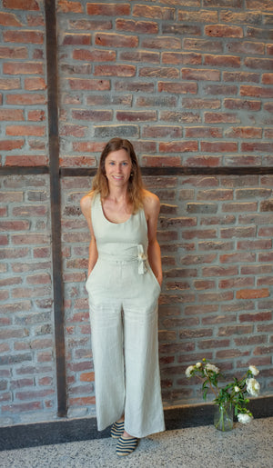 Natural linen summer jumpsuit | Olá Lindeza