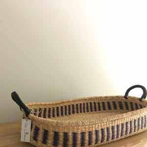 Royal Blue Woven Baby Changing Basket
