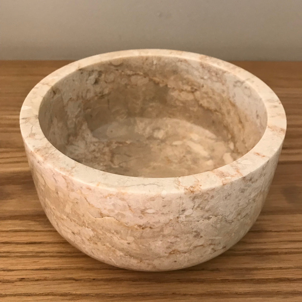 Round marble serving bowls (available in three different sizes)