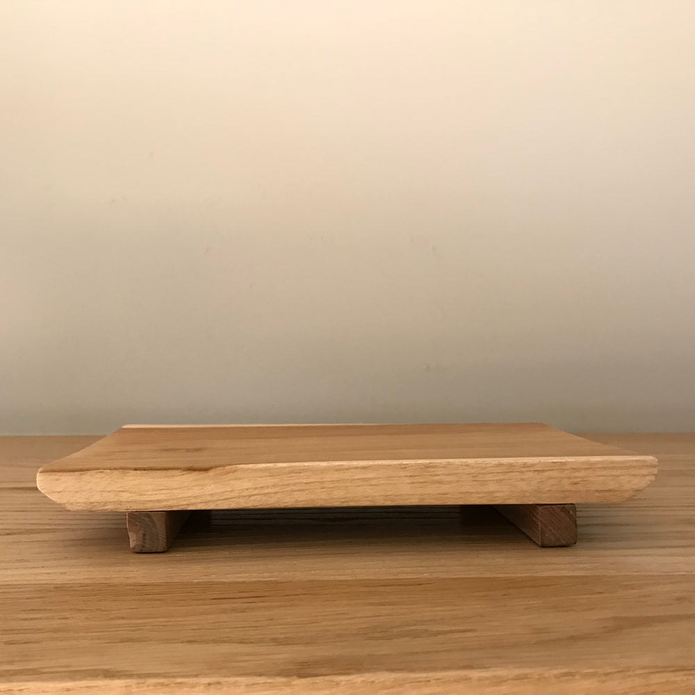Tropical teak wood cutting or serving platter