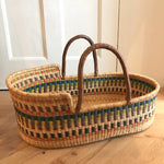 Troika Woven Baby Moses Basket (custom mattress included)