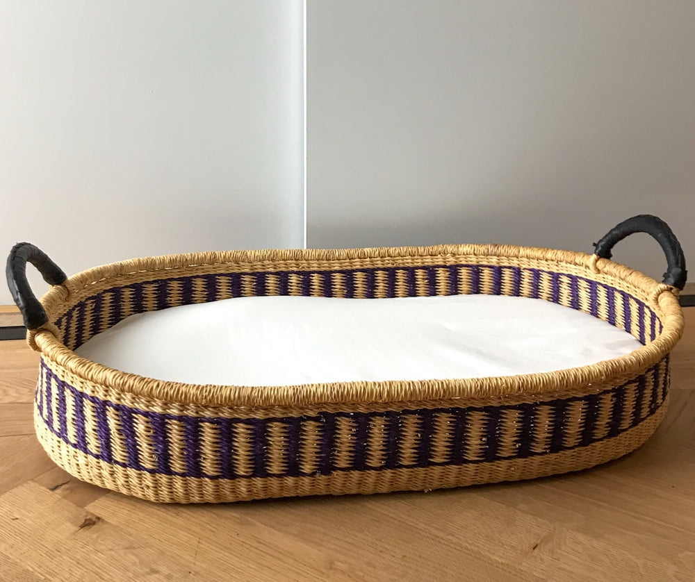 Ultramarine Woven Baby Changing Basket