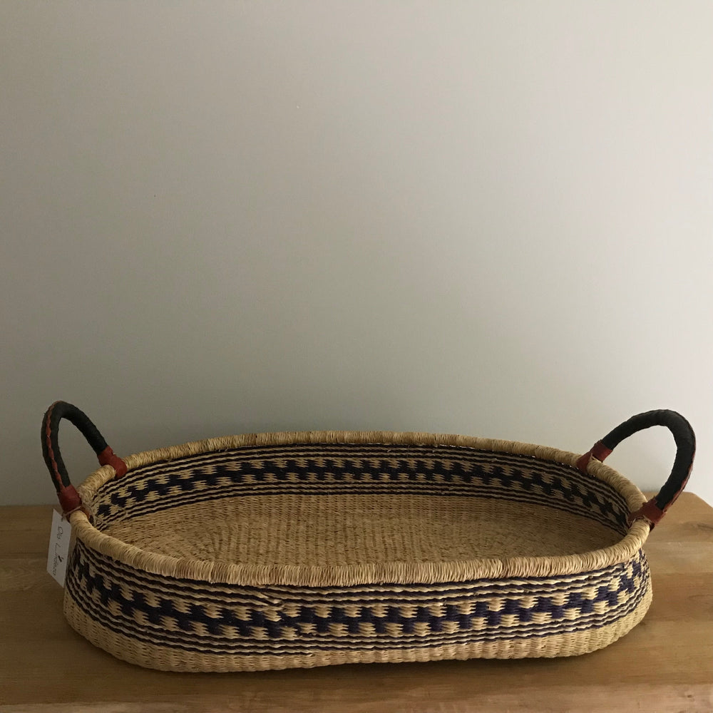 Dark Blue Woven Baby Changing Basket