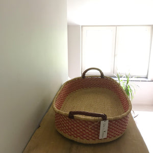 Raspberry Woven Baby Changing Basket