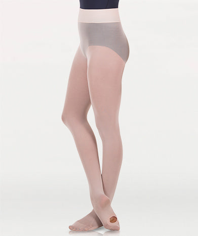 Body Wrappers Wide Smooth Waist Convertible Tights