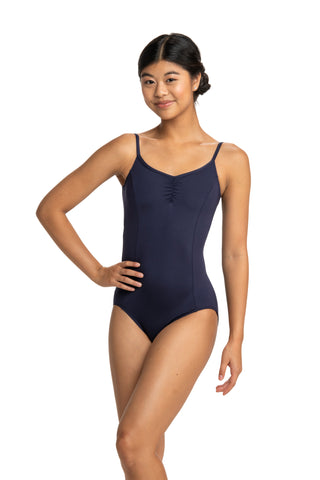 Ainsliewear Princess-Seam Pinch-Front Leotard