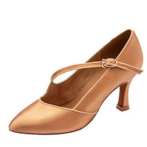 Stephanie Closed-Toe Satin Heel