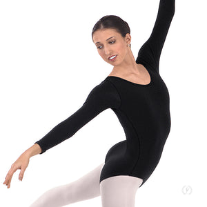 Eurotard Womens Plus Size Long Sleeve Leotard